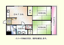 原部ビル--[303号室]の間取り