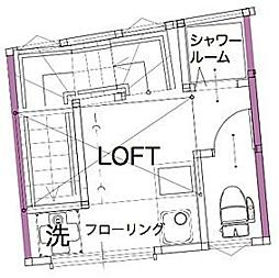 サークルハウス平和島壱番館 bt[-203号室]の間取り