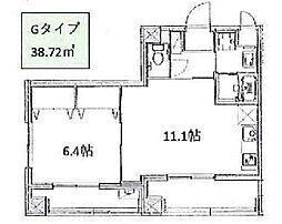 JR山手線 大塚駅 徒歩8分の賃貸マンション 5階ワンルームの間取り