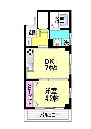 カネヨシ六甲ビル[2階]の間取り