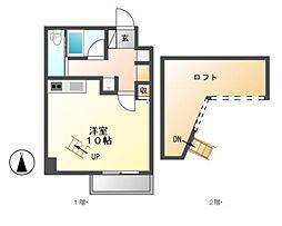 フォルテッツァ春岡[2階]の間取り