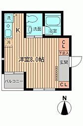 NERV西早稲田(ヌーヴ)[0104号室]の間取り