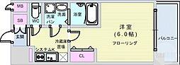 JR大阪環状線 大正駅 徒歩5分の賃貸マンション 5階1Kの間取り