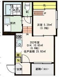 グランハイツ姫島[102号室]の間取り