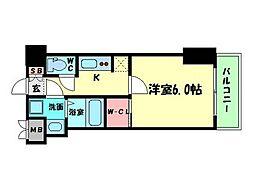 W-STYLE難波[8階]の間取り