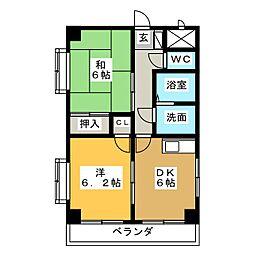 フラット柴田[2階]の間取り