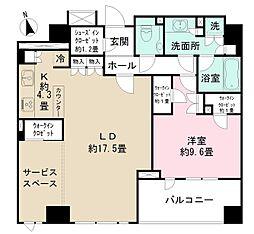 東京メトロ半蔵門線 半蔵門駅 徒歩5分の賃貸マンション 6階1SLDKの間取り