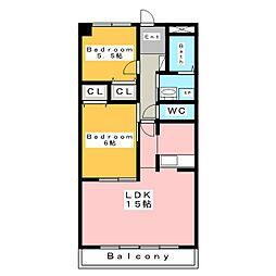 ブルーパレス[5階]の間取り