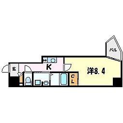 solcerejeira西宮(ソルセレジェイラニシノミヤ)[3階]の間取り