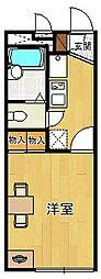 兵庫県西宮市笠屋町の賃貸アパートの間取り