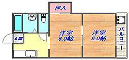 赤坂ハイツ[2F号室]の間取り