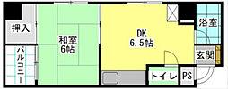 福岡県北九州市小倉北区弁天町の賃貸マンションの間取り