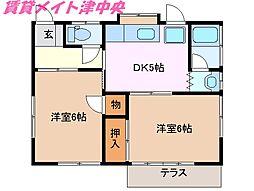 [一戸建] 三重県津市末広町 の賃貸【/】の間取り