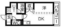 愛知県名古屋市中川区八熊通6丁目の賃貸アパートの間取り