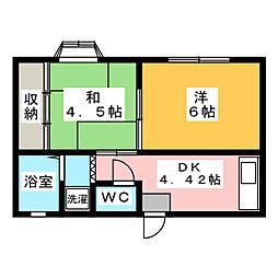 キャッスル藤川[1階]の間取り