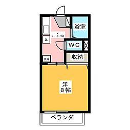 エスポワール B棟[2階]の間取り