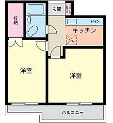 神奈川県横浜市西区中央1丁目の賃貸アパートの間取り