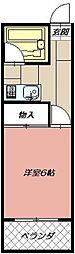 ブロッサム・モンジ[203号室]の間取り