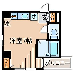 Wing横浜[201号室]の間取り