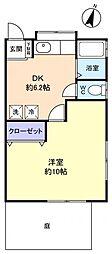 前原東ピュアII[1階]の間取り