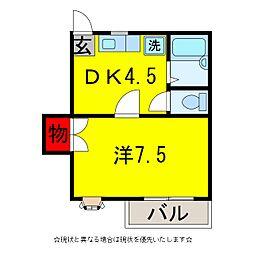 グレース五井C[1階]の間取り