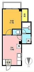 東京都世田谷区船橋3丁目の賃貸マンションの間取り
