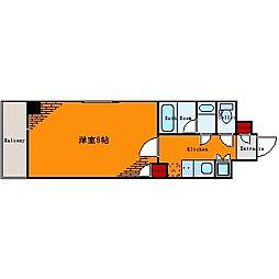 ルーブル亀戸[8階]の間取り