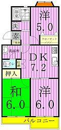 ルミエール田中[305 (コピー)号室]の間取り