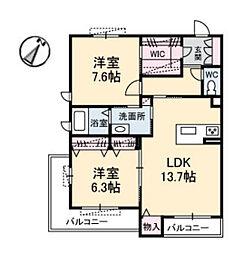 広島県広島市佐伯区1丁目の賃貸マンションの間取り