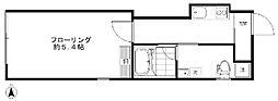 東急東横線 学芸大学駅 徒歩2分の賃貸マンション 1階1Kの間取り