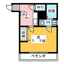 クレフラスト新守山駅前A棟[2階]の間取り
