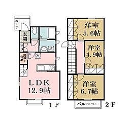 (仮称)草加市栄町2丁目計画[101号室]の間取り