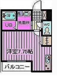 埼玉県蕨市中央1丁目の賃貸アパートの間取り