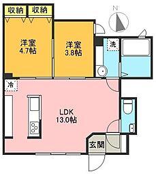 Sakura Terrace[1階]の間取り