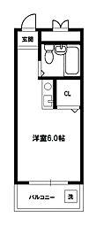 ベルメゾンエトワール[5階]の間取り