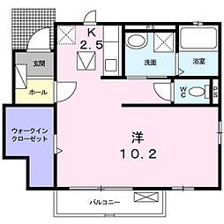 ハーモニーガーデン小文字II[1階]の間取り