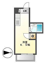 ビラ三秀鶴舞[3階]の間取り