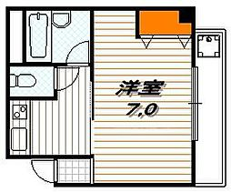 京都府京都市下京区西新屋敷下之町の賃貸マンションの間取り