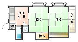 赤井マンション高柳[2階]の間取り