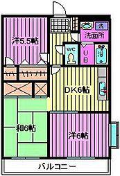 グランドール浦和II[2階]の間取り