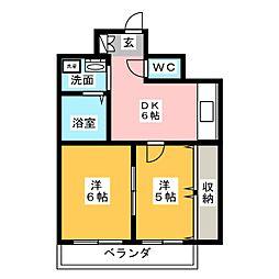 レジデンス27番館[10階]の間取り