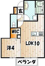 コスモ三萩野[1階]の間取り