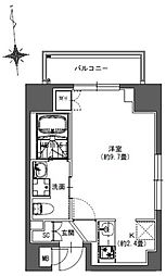 S-RESIDENCE東神田 8階ワンルームの間取り