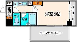 エスリード大阪城北[8階]の間取り
