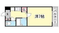 兵庫県神戸市中央区上筒井通6丁目の賃貸マンションの間取り