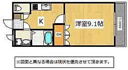 福岡県北九州市小倉南区下南方1丁目の賃貸アパートの間取り
