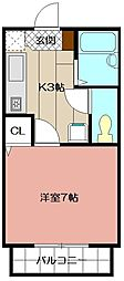 カンパーニュ出屋敷II[1階]の間取り
