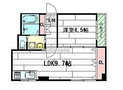 山本第2ビル[3階]の間取り