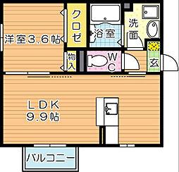 D-HOUSE(ディーハウス)A棟[a201号室]の間取り