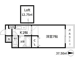 カランドリエ[6階]の間取り